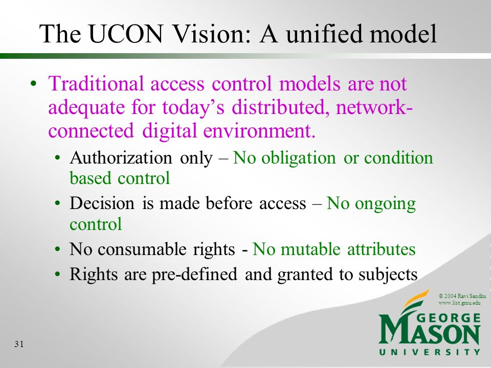 The UCON Vision: A unified model