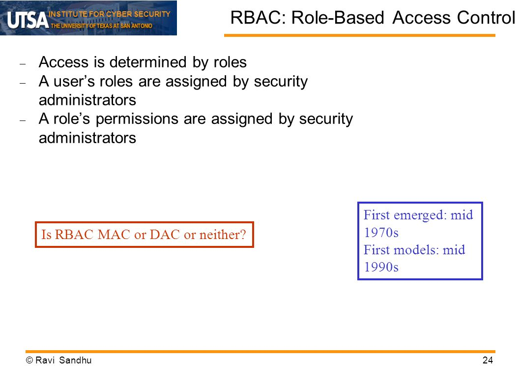 RBAC: Role-Based Access Control