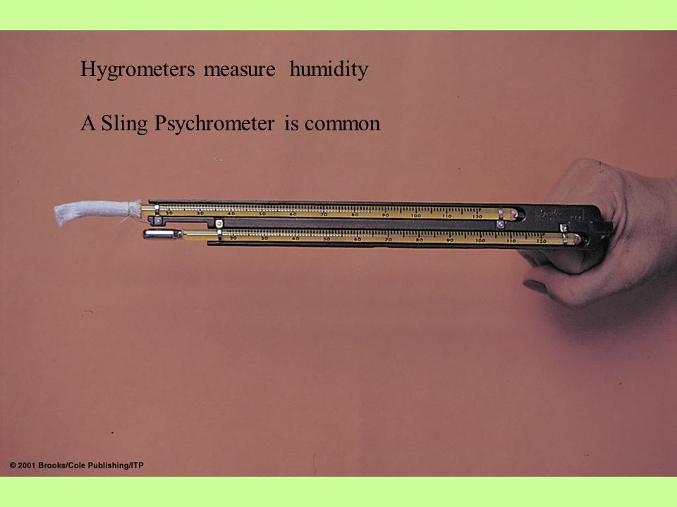 Hygrometers measure humidity