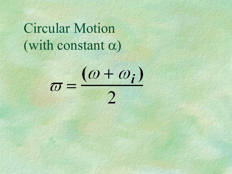 Circular Motion (with constant a)