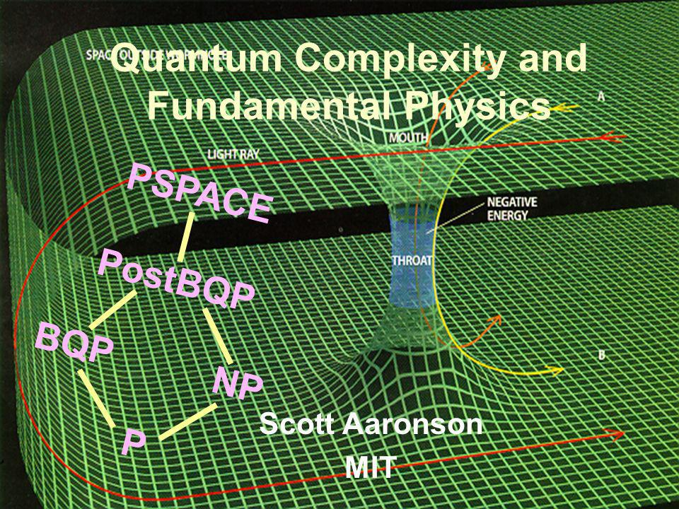 Quantum Complexity and Fundamental Physics