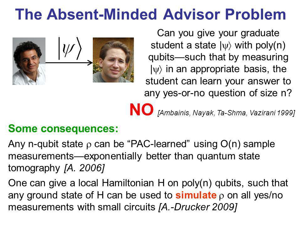 The Absent-Minded Advisor Problem