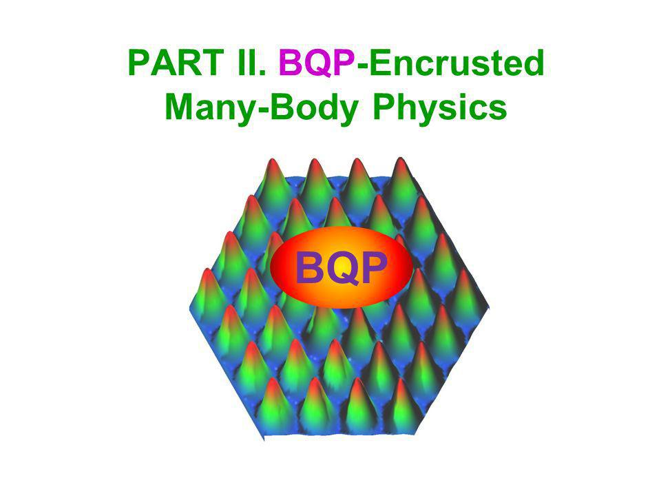 PART II. BQP-Encrusted Many-Body Physics