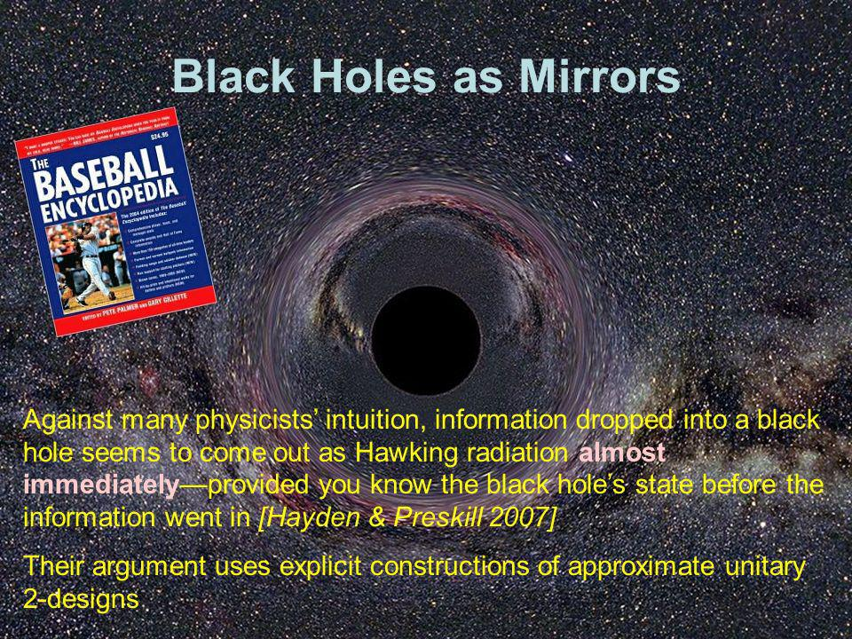 Black Holes as Mirrors