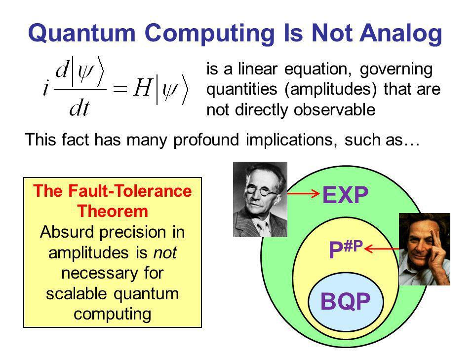 Quantum Computing Is Not Analog