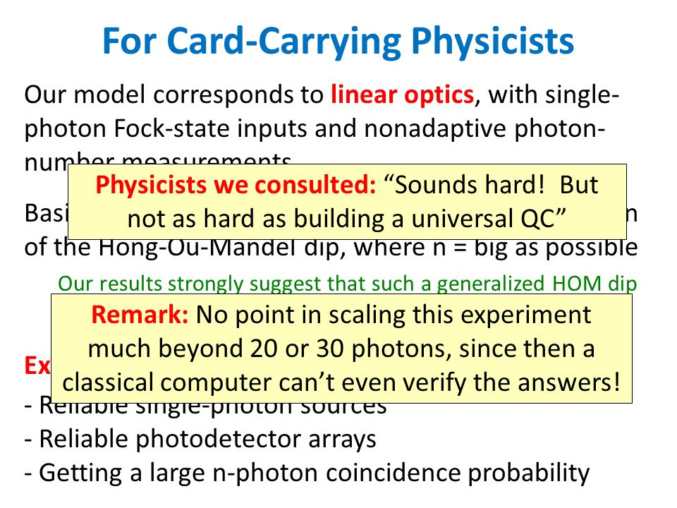 For Card-Carrying Physicists