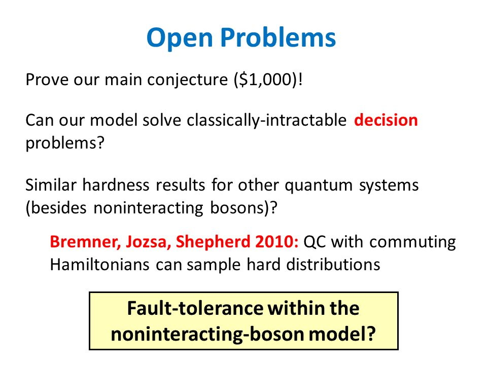Fault-tolerance within the noninteracting-boson model
