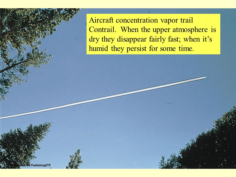Aircraft concentration vapor trail