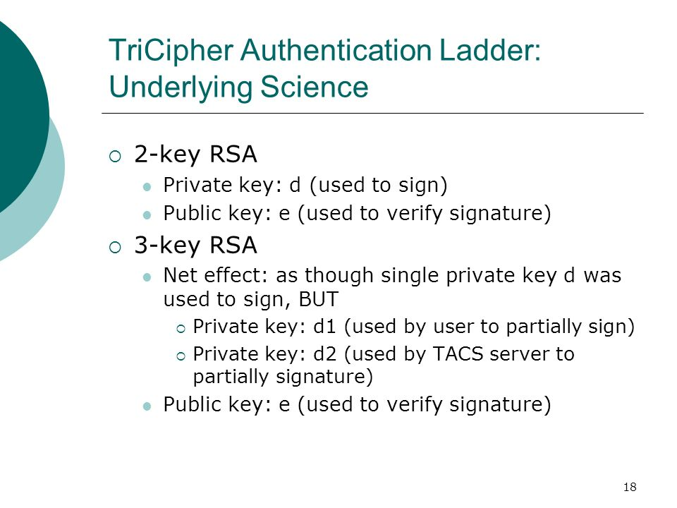 TriCipher Authentication Ladder: Underlying Science