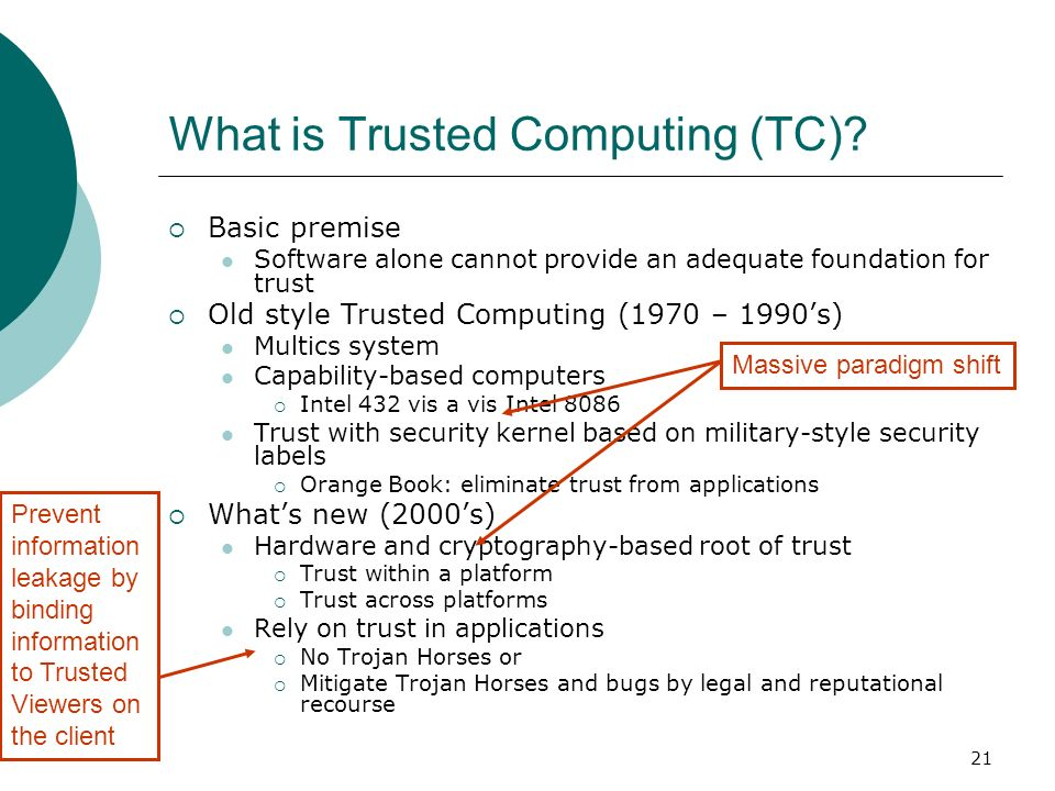 What is Trusted Computing (TC)