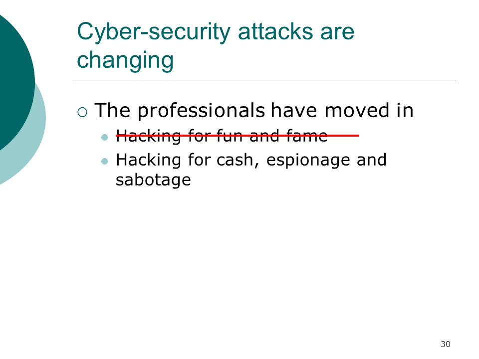 Cyber-security attacks are changing