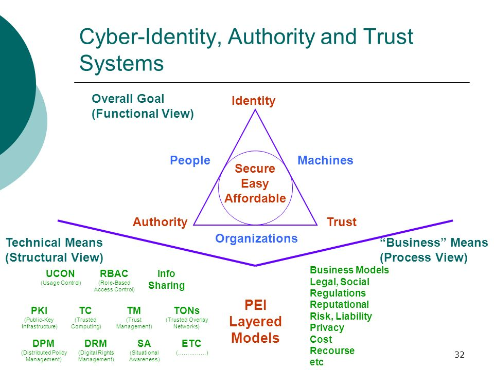 Cyber-Identity, Authority and Trust Systems