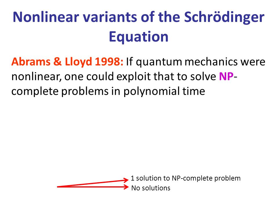 Nonlinear variants of the Schrödinger Equation