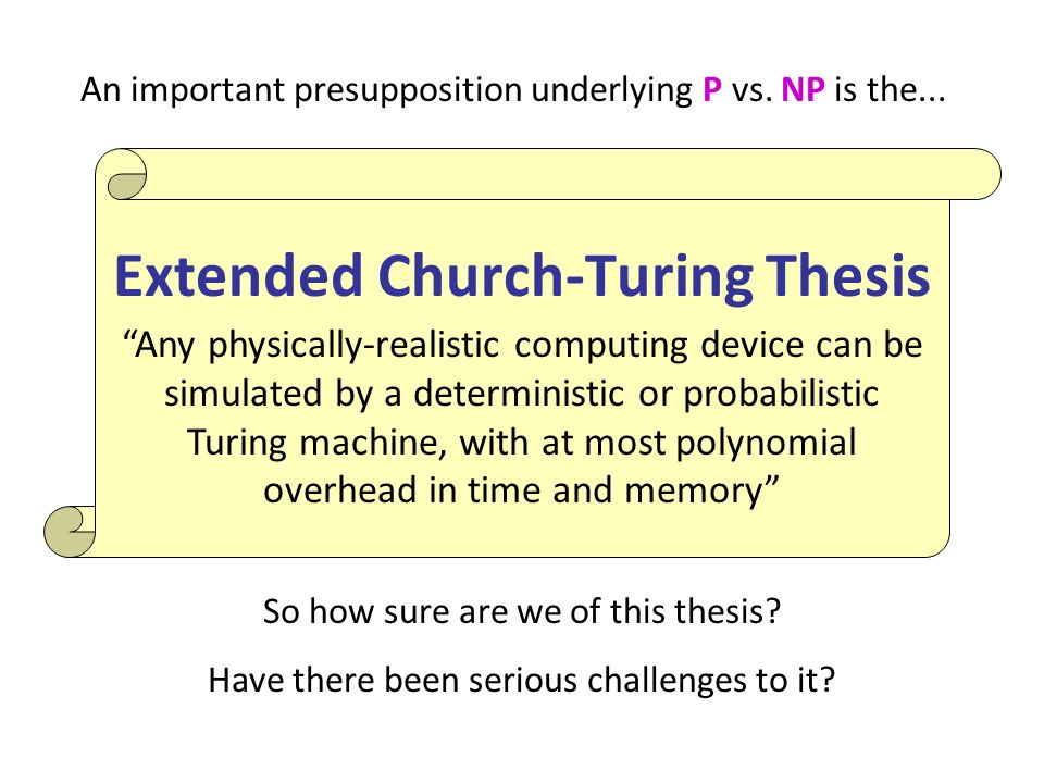 Extended Church-Turing Thesis