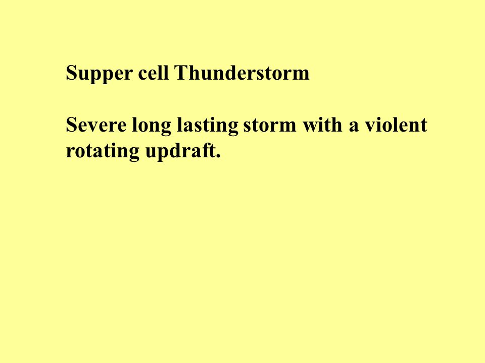 Supper cell Thunderstorm