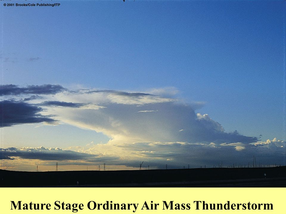 Mature Stage Ordinary Air Mass Thunderstorm