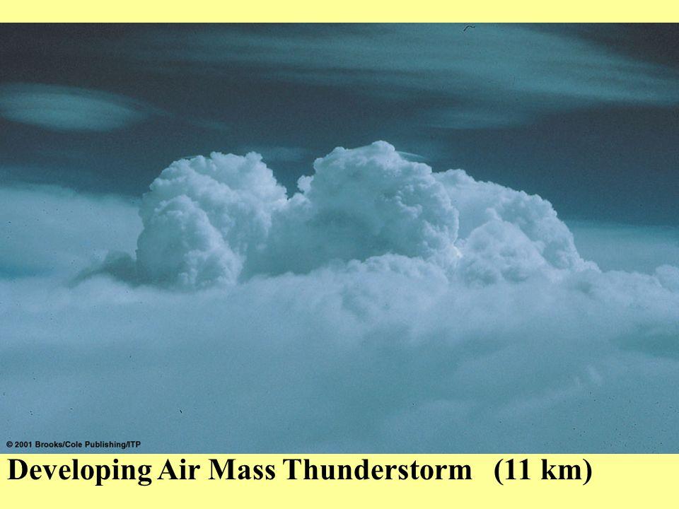 Developing Air Mass Thunderstorm (11 km)