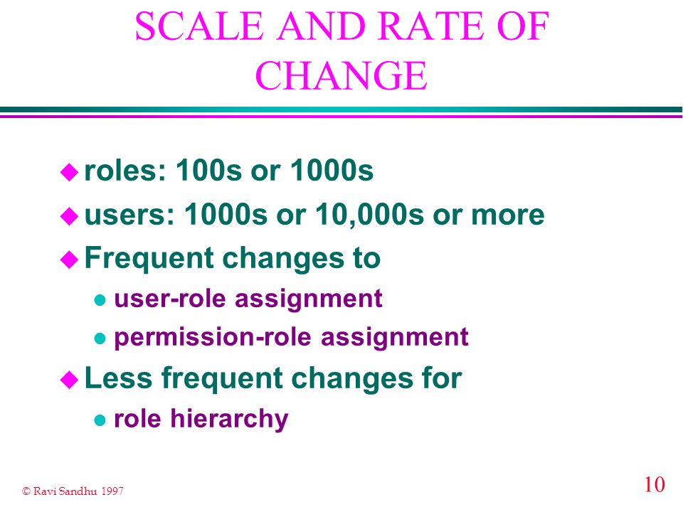 SCALE AND RATE OF CHANGE