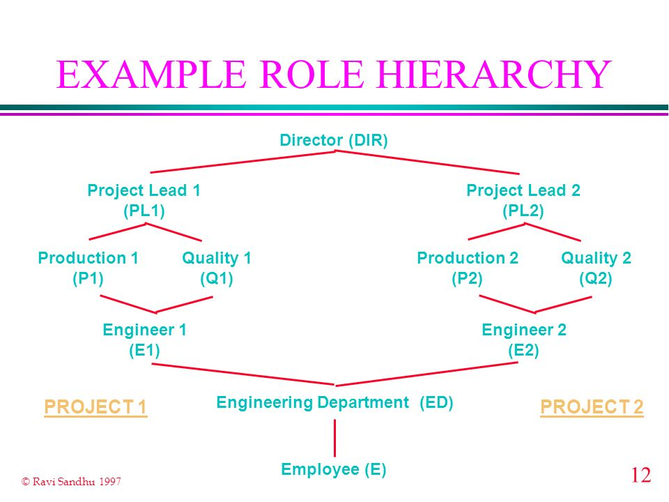 EXAMPLE ROLE HIERARCHY