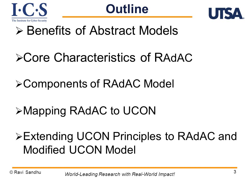 Benefits of Abstract Models Core Characteristics of RAdAC