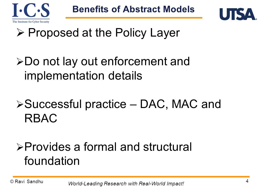Benefits of Abstract Models
