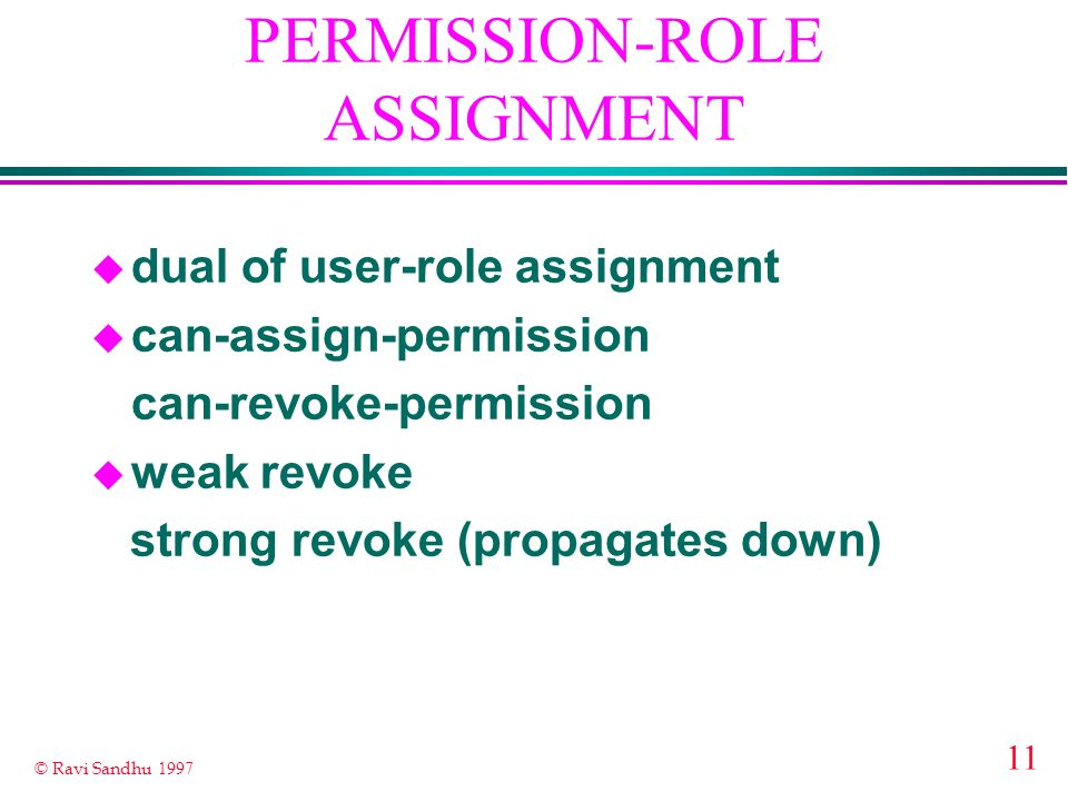 PERMISSION-ROLE ASSIGNMENT