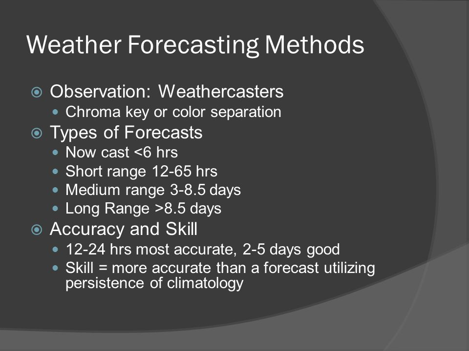 Weather Forecasting Methods