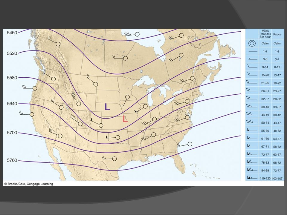 FIGURE 13. 14 A 500-mb chart for 6:00 a. m. Tuesday, showing wind flow