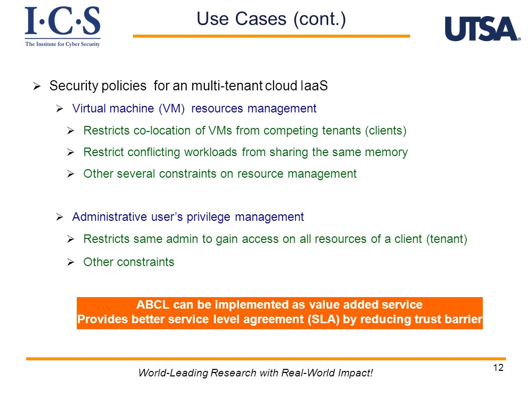 ABCL can be implemented as value added service