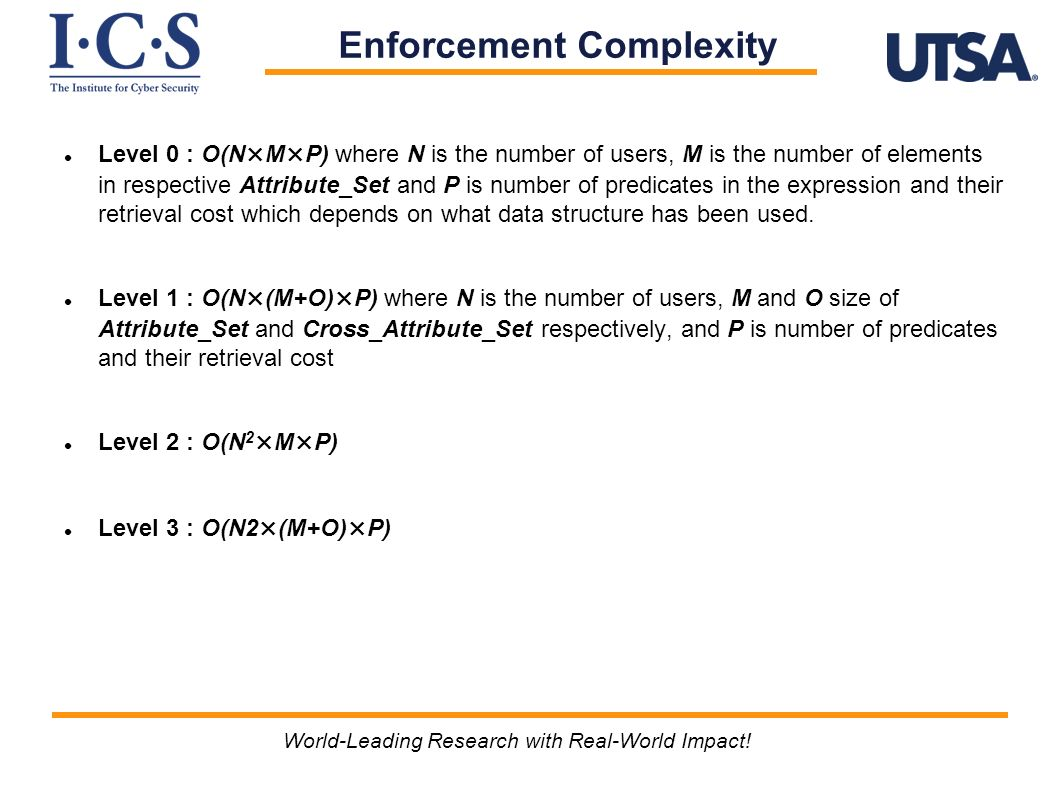 Enforcement Complexity