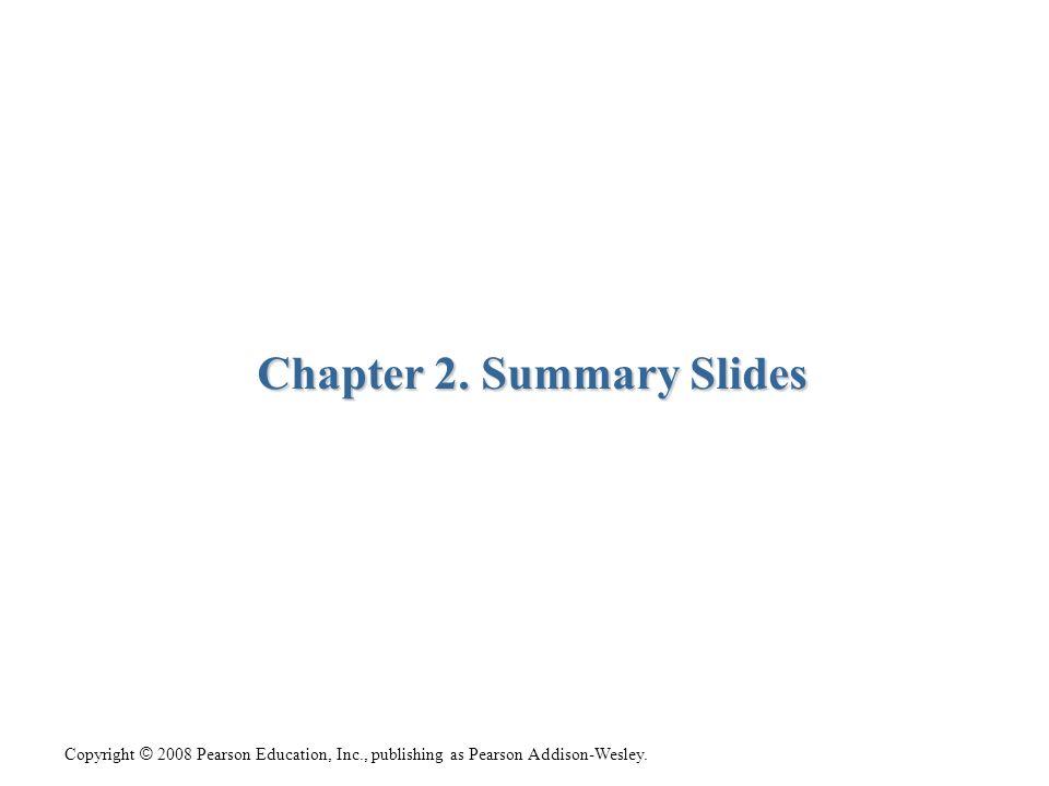 Chapter 2. Summary Slides