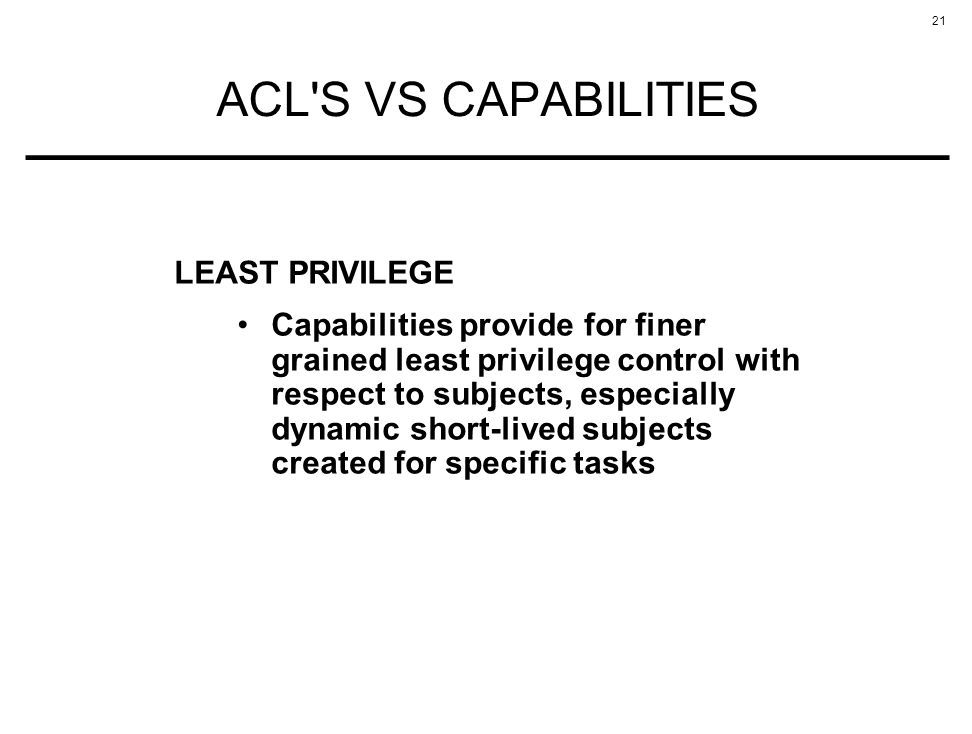 ACL S VS CAPABILITIES LEAST PRIVILEGE