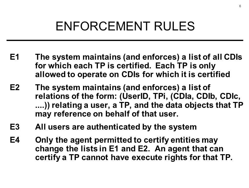 ENFORCEMENT RULES