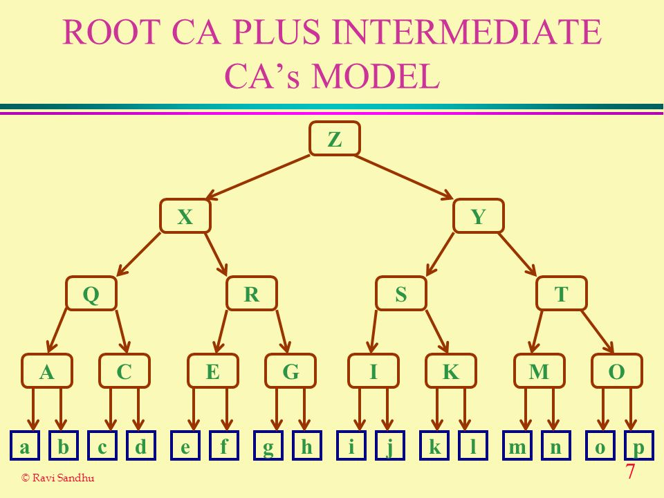 ROOT CA PLUS INTERMEDIATE CA's MODEL