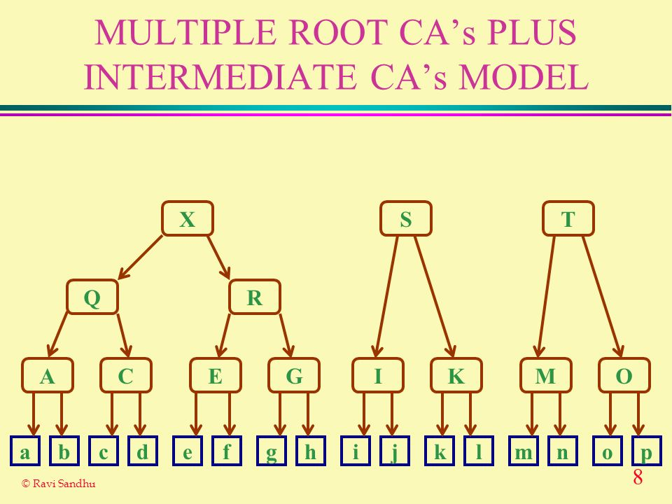 MULTIPLE ROOT CA's PLUS INTERMEDIATE CA's MODEL