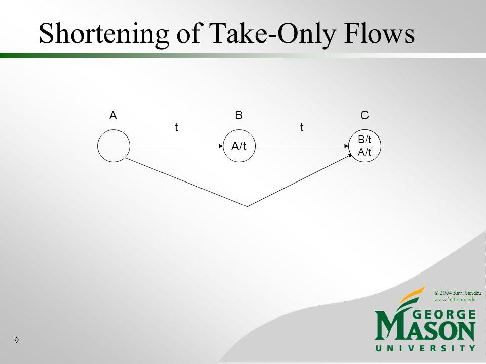 Shortening of Take-Only Flows
