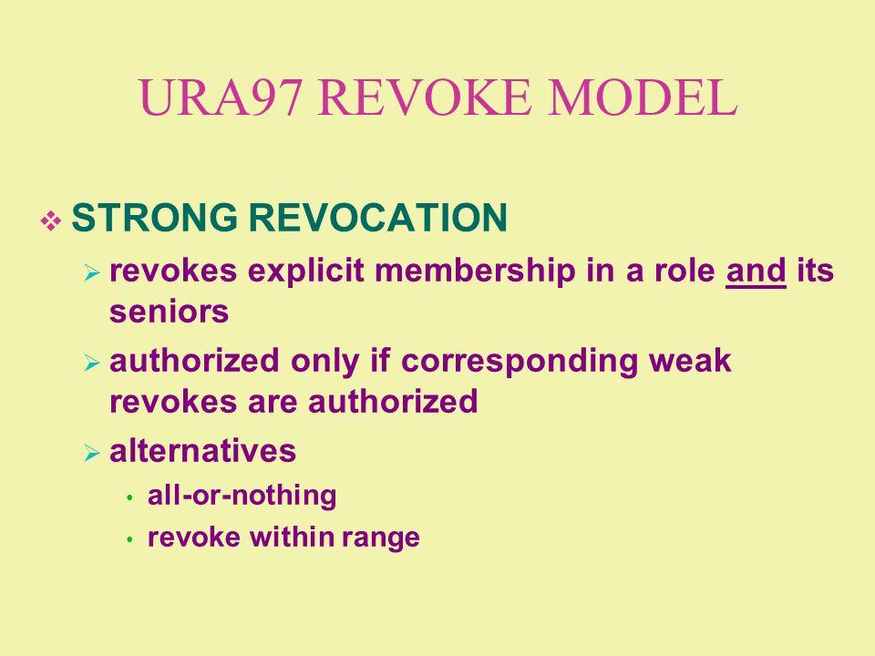 URA97 REVOKE MODEL STRONG REVOCATION