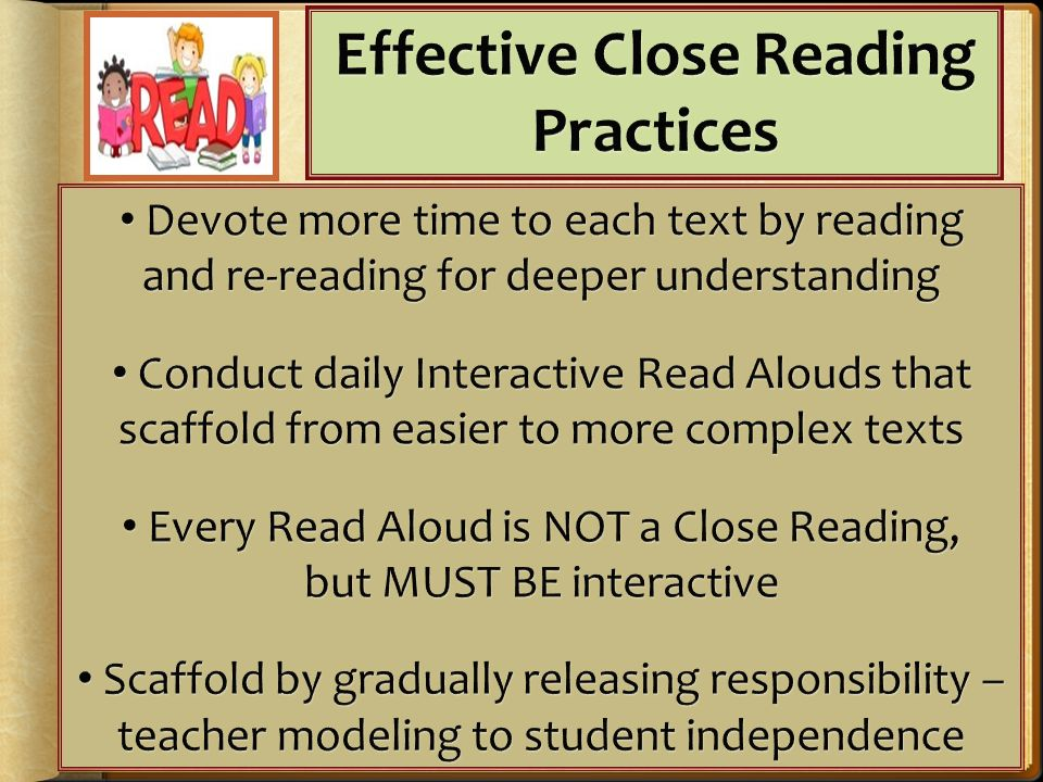 Effective Close Reading