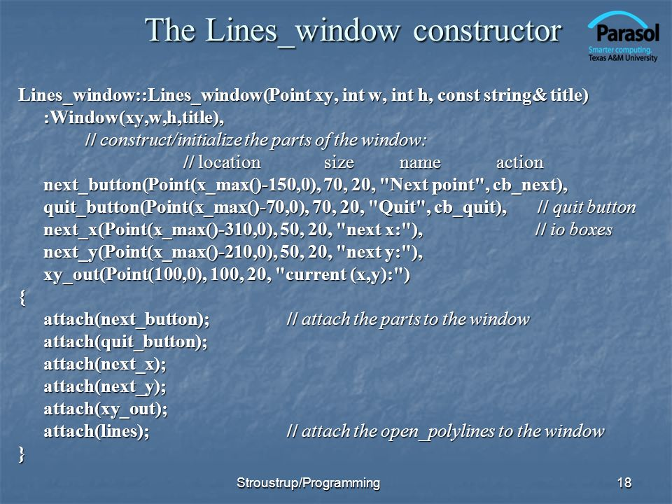 The Lines_window constructor