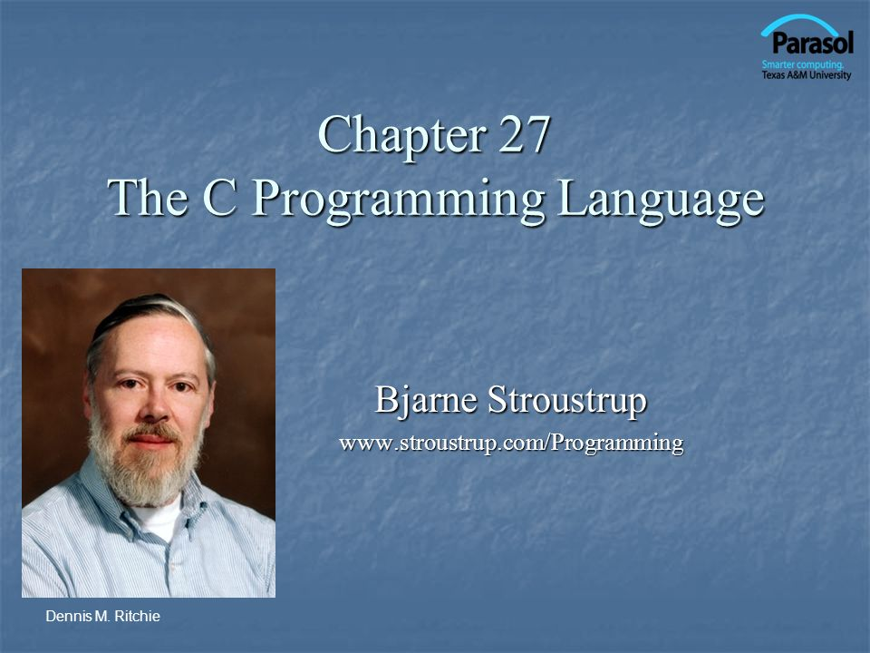 Chapter 27 The C Programming Language