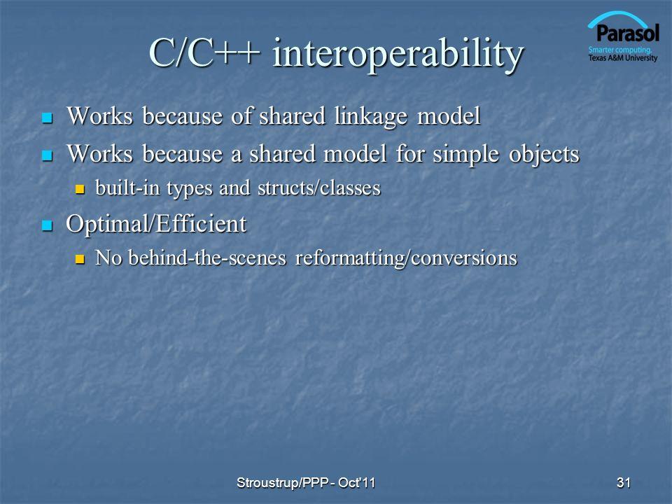 C/C++ interoperability