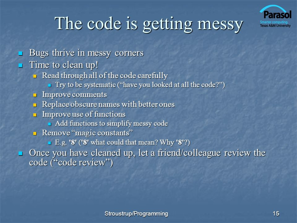 The code is getting messy