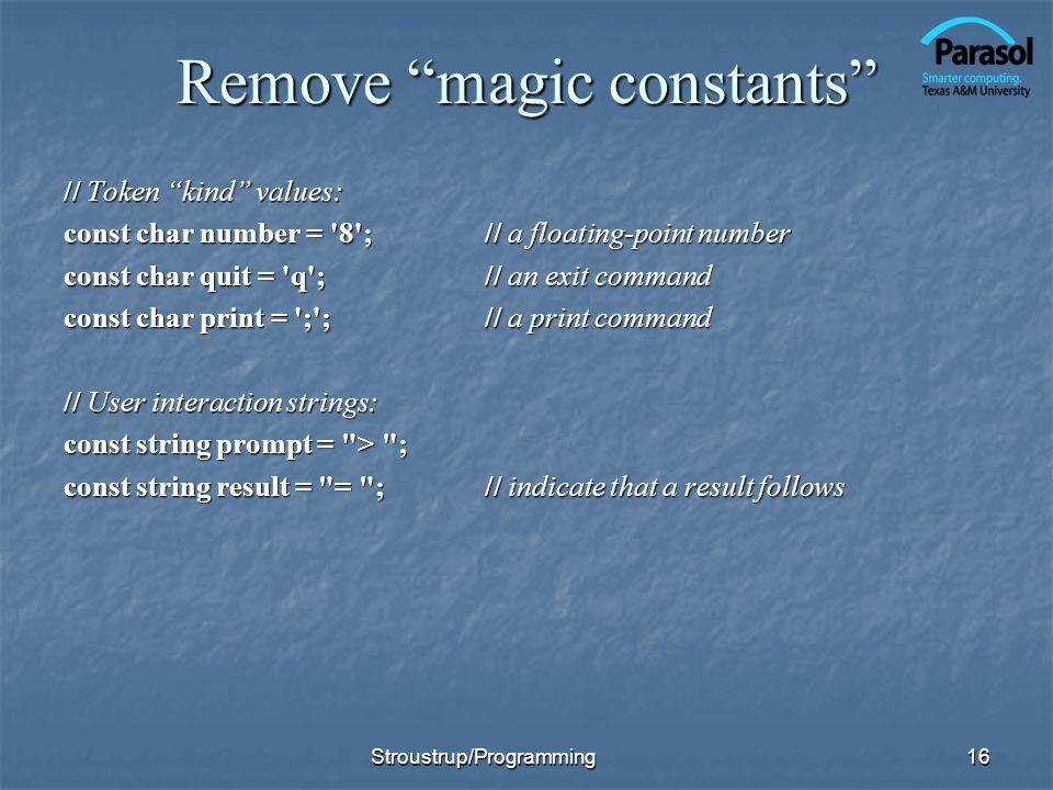 Remove magic constants