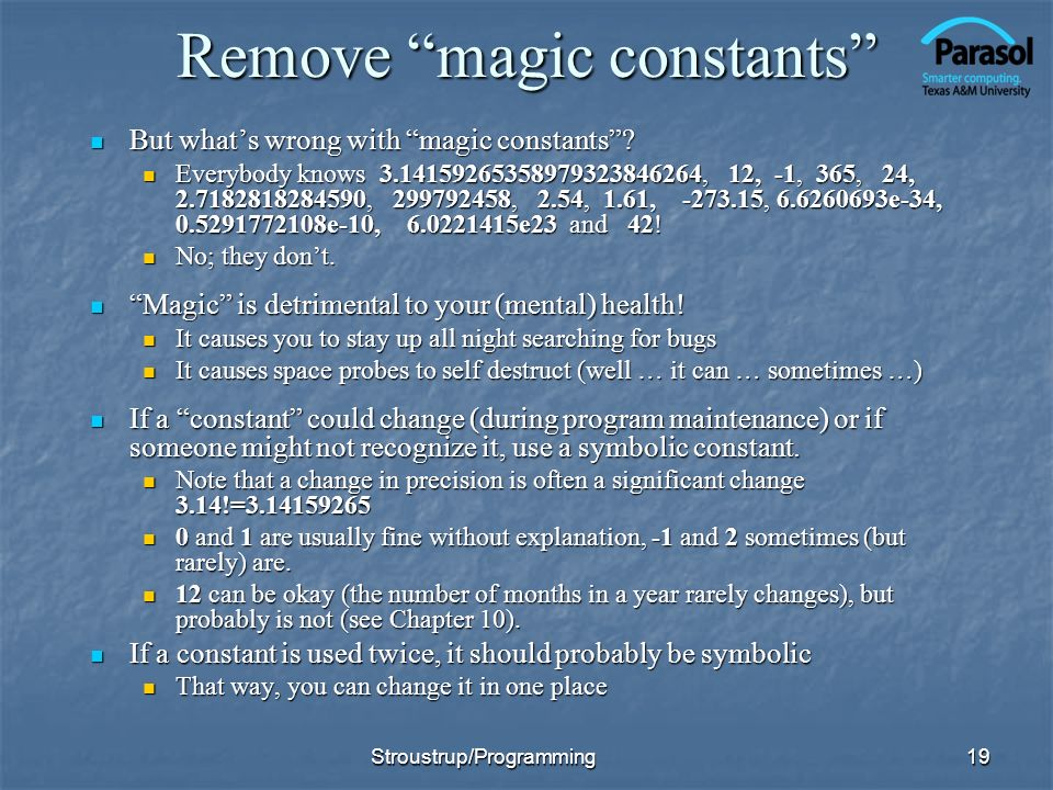 Remove magic constants