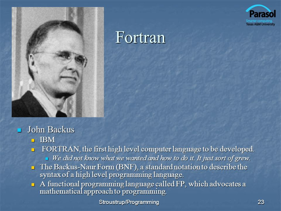 Fortran John Backus IBM