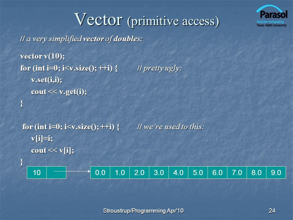 Vector (primitive access)