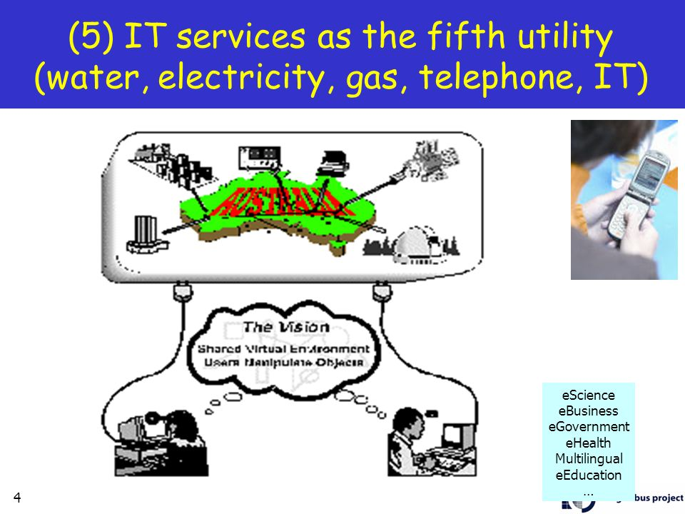(5) IT services as the fifth utility (water, electricity, gas, telephone, IT)