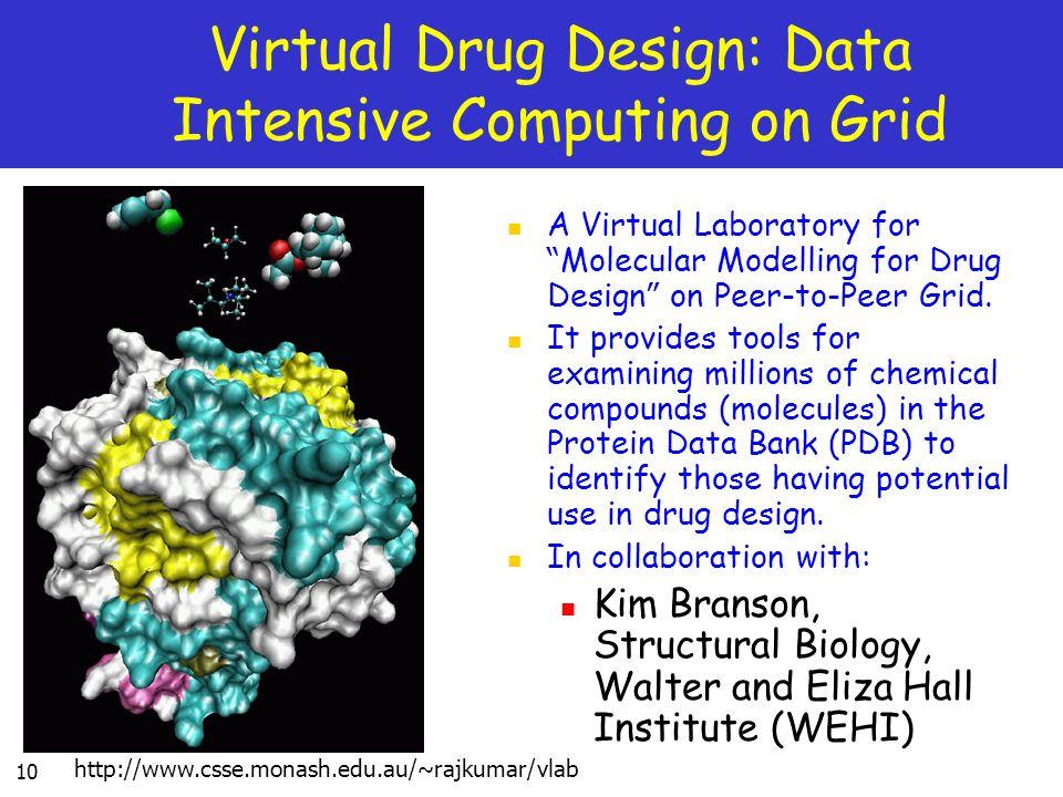Virtual Drug Design: Data Intensive Computing on Grid