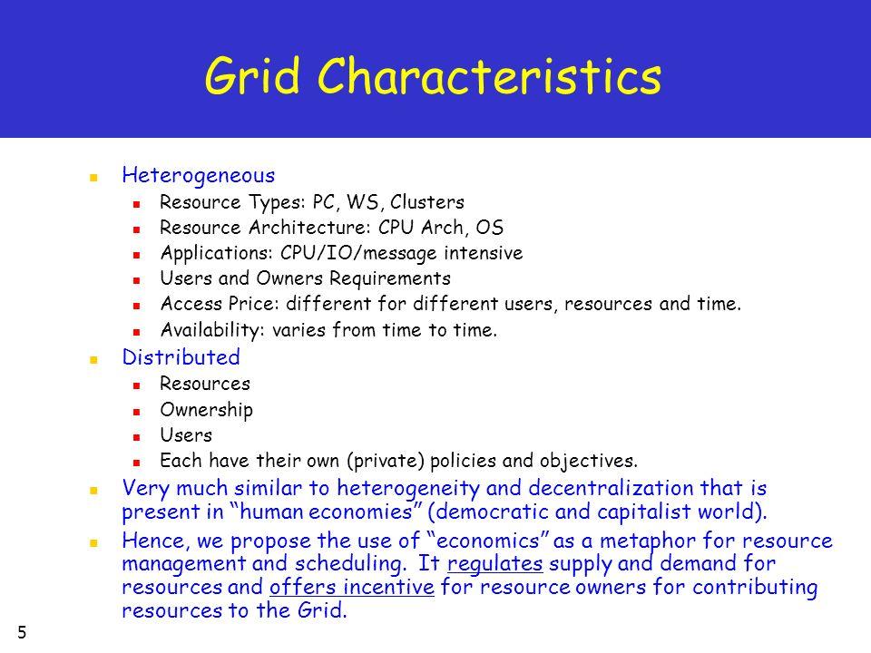 Grid Characteristics Heterogeneous Distributed