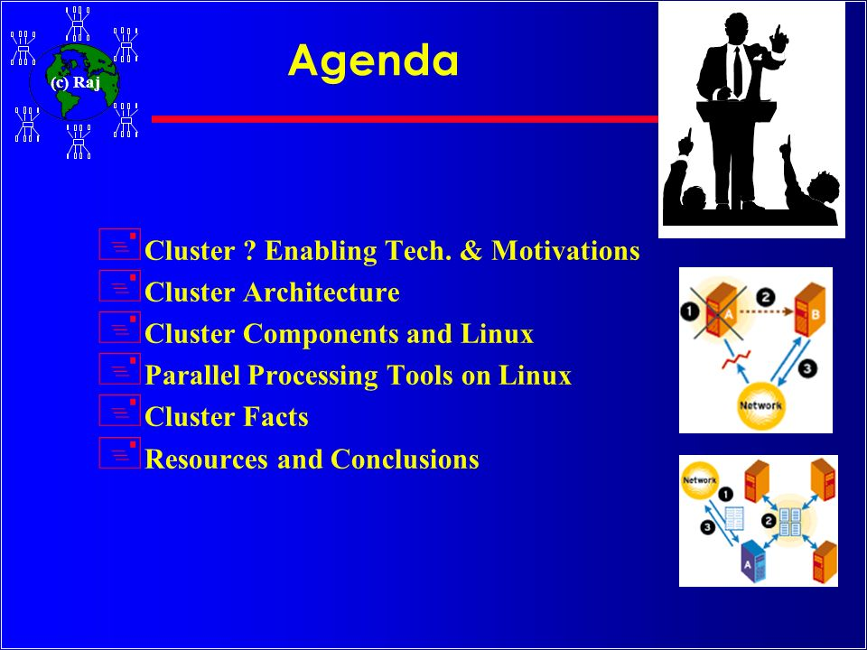 Agenda Cluster Enabling Tech. & Motivations Cluster Architecture